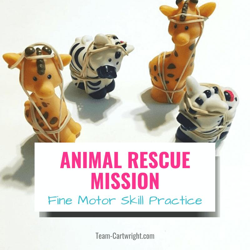 animal rescue fine motor skill practice