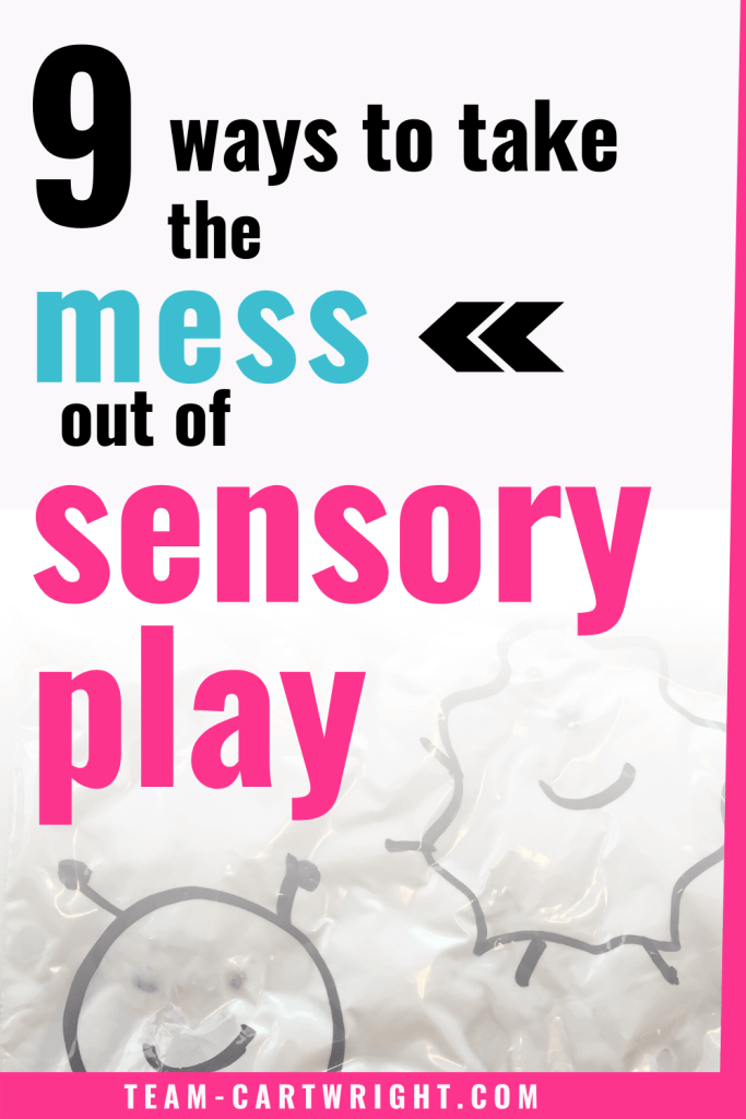 9 ways to take the mess out of sensory play with picture of sensory squish bag