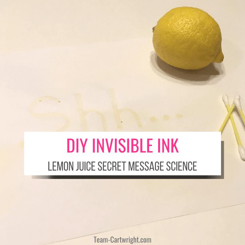 DIY invisible ink lemon juice secret message science