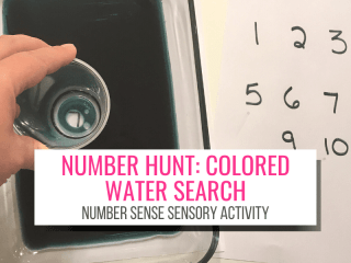 Number Hunt: Colored water search for kids