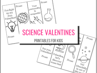 text: Science valentines printables for kids picture: the 8 valentines to print