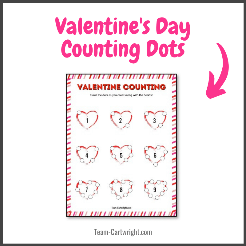 Valentine's Day Counting Dots free printable