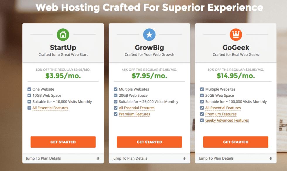 SiteGround Host Plan
