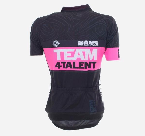 Bioracer fietsshirt dames kort achterkant