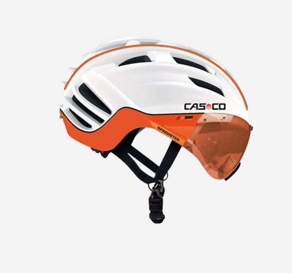 Casco speedster tc plus wit oranje