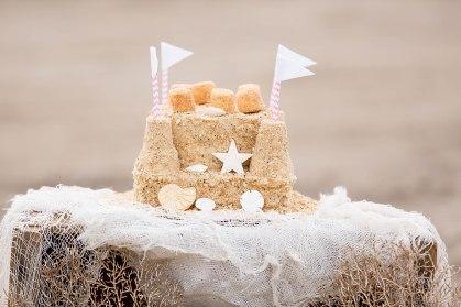 gorgeous sandcastle cake by Vanilla House Bakery