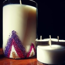 Limited Edition - Blinged Up Recycled Bottle Candles