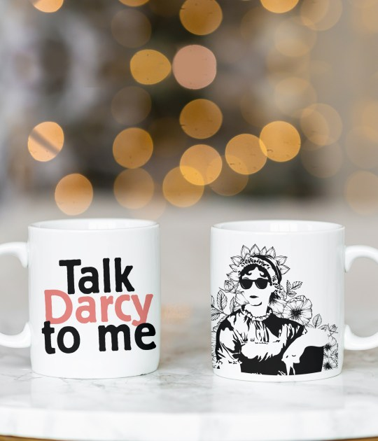 Talk Darcy to Me Jane Austen Mug - Team Asthers