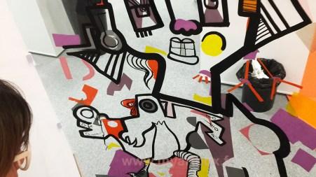 dessin du painttube fresque participative