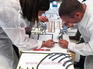 animation cohésion de groupe team building installux peinture