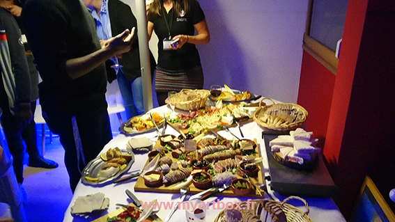 buffet pour inauguration