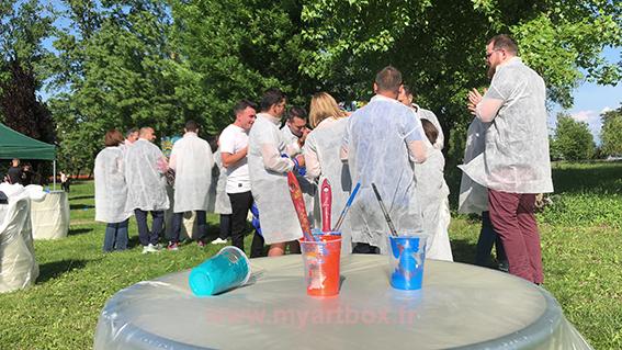 team building peinture Lyon