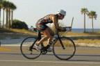 Heather starts the bike