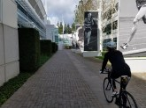 Riding through the Nike campus