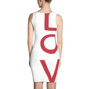Love All-Over Fitted Dress Back