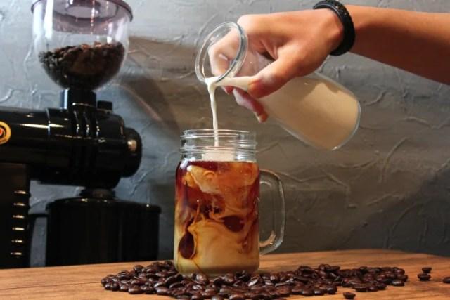 上質なコーヒー牛乳