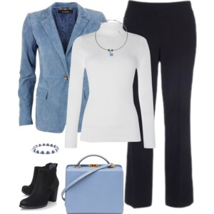 Light Blue and White 1