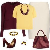 Wine and Gold - Work Wear 2