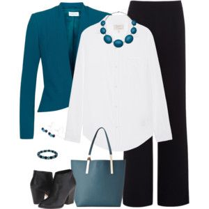 Teal and Black - Work Wear 1