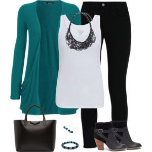 Teal and Black - Casual Friday