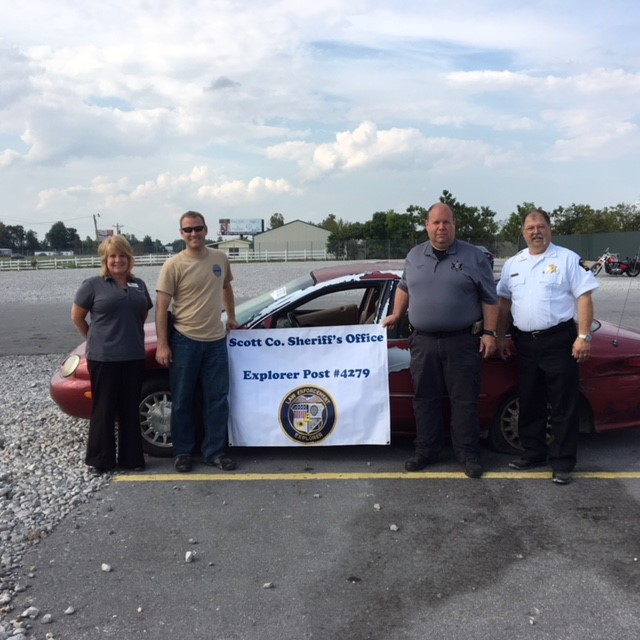 Yard 141 working with our local sheriff_s office to benefit our local Explorer POST, which funds programs for youth development