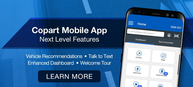 Copart Updates Mobile App with New Features