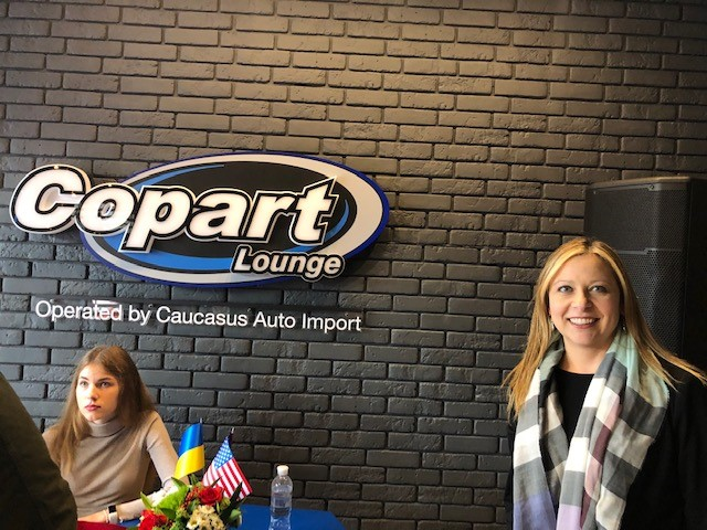 Michelle at Copart Lounge