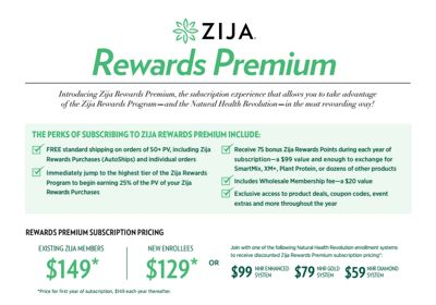 Zija Rewards Premium
