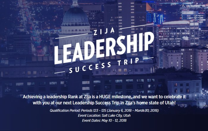 Zija Leadership Success Trip