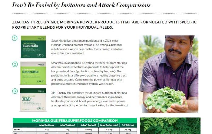 moringa oleifera superfoods comparison