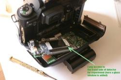 Removing the infrared filter n a Nikon D70 DSLR camera