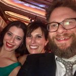 picture with seth rogan donna rajkovic at team fox event