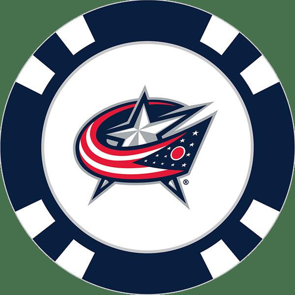 Columbus Blue Jackets Poker Chip Ball Marker Team Golf Usa