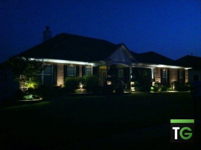 led landscape lighting team green outdoor