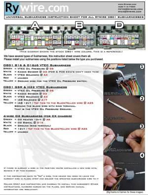 Wiring diagram for Honda motor swaps | Irrational
