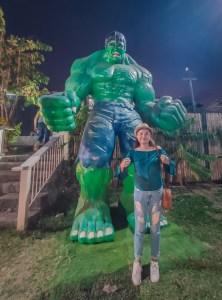 The Garden Travel DIY statues