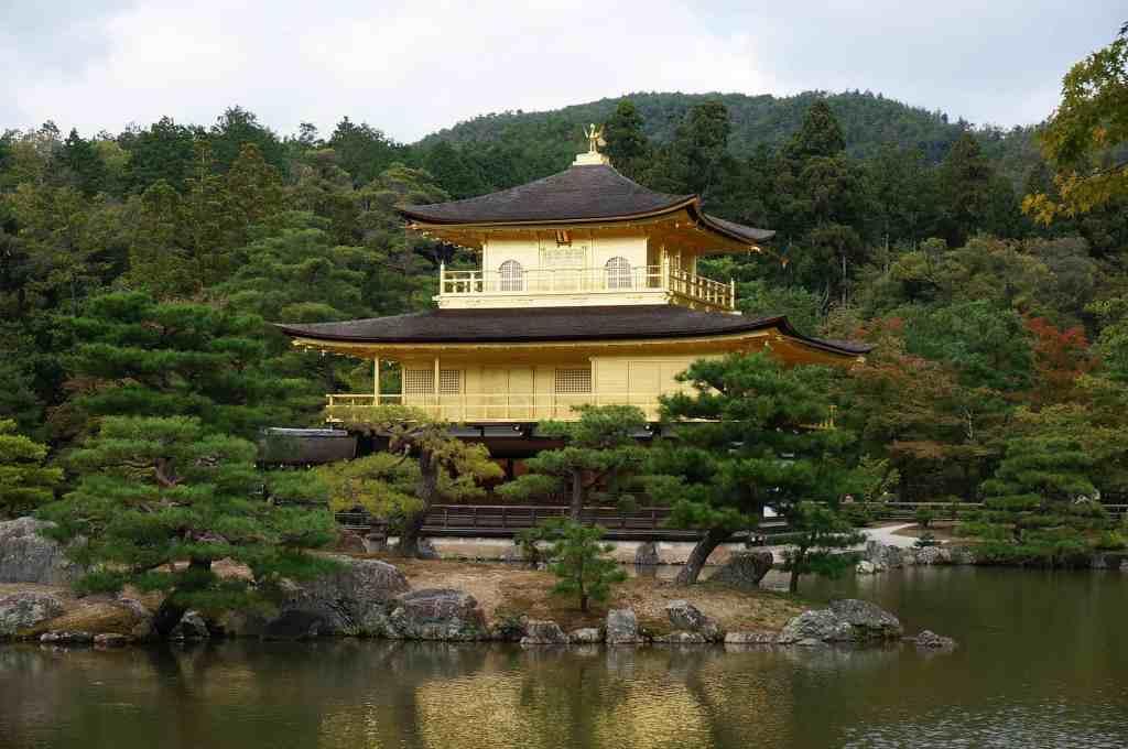Japanese temple kinkakuji in Kyoto