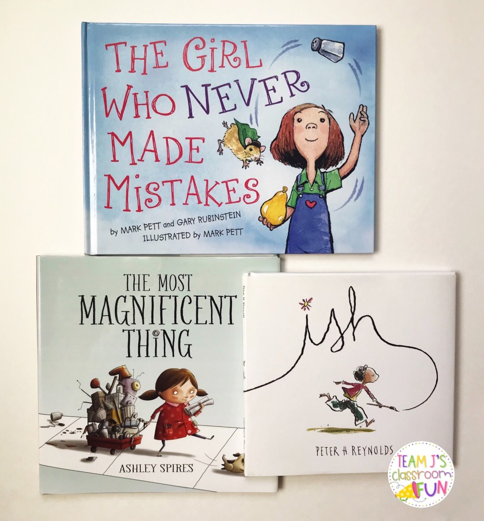 Picture books - The Girl Who Never Made Mistakes, The Most Magnificent Thing, ish