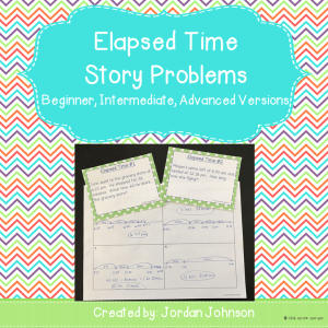 Elapsed Time Story Problem Task Cards