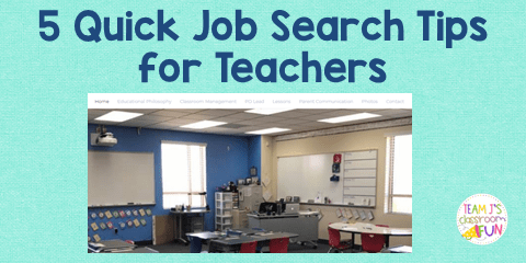 Blog Header for post - 5 Quick Job Search Tips for Teachers