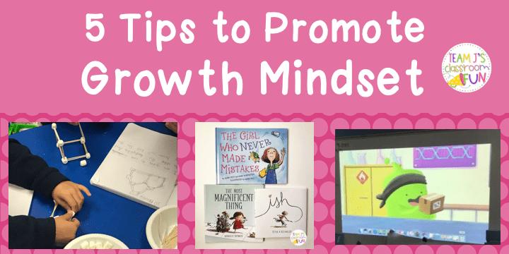 Header image for 5 Tips to Promote Growth Mindset Blog Post