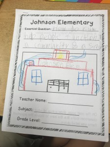 Picture of Create a School front cover with drawing of a school.