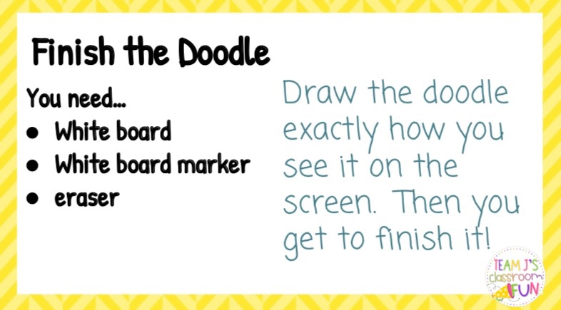 Image of Finish the Doodle directions