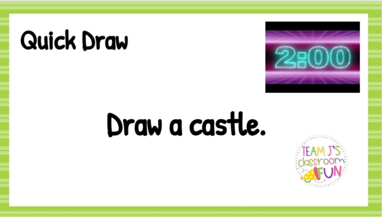 Quick Draw example - Draw a castle.