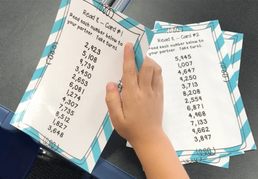 Picture of Reading Numbers Activity