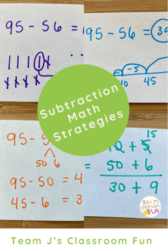 Pinterest Image for Subtraction Math Strategies