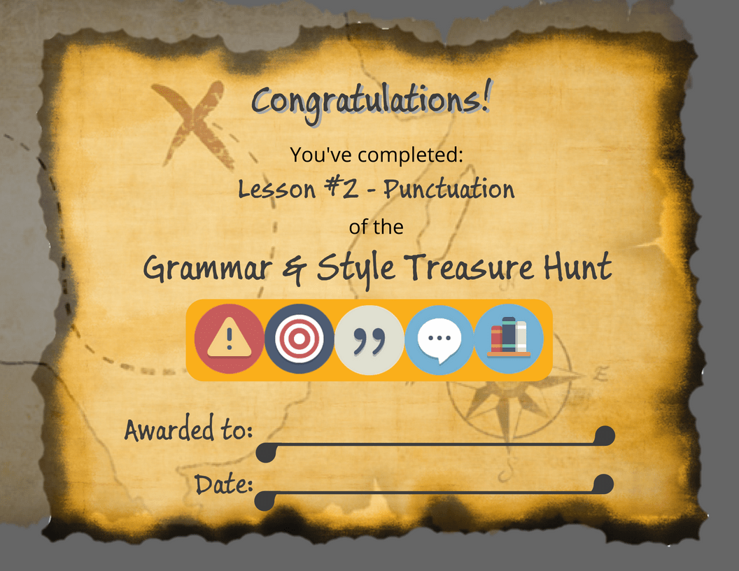 treasure hunt course certificates