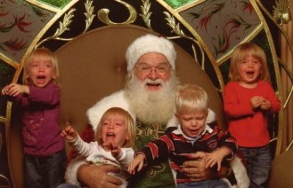 Laps From Hell: 22 Downright Bad Creepy Santas