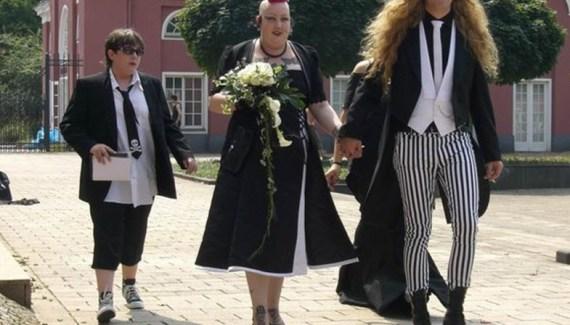 Funny awkward wedding photo from Team Jimmy Joe