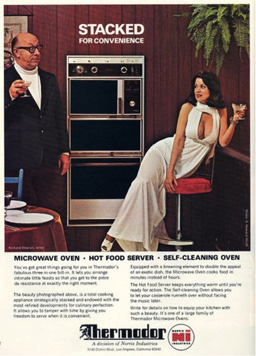 Stacked for Convenience Thermodor Ovens  ~ The most sexists advertising ~
